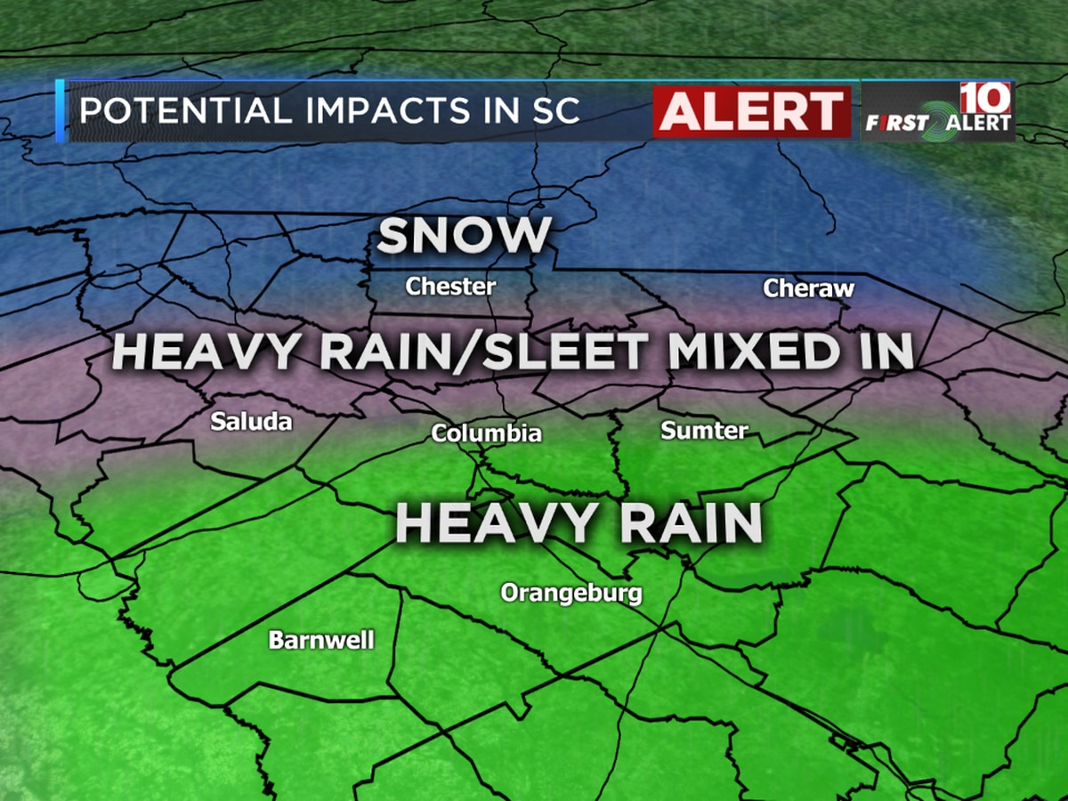 FIRST ALERT: Continue to expect possible wintry mix for Monday