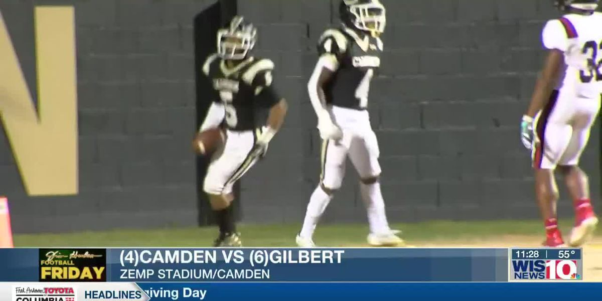 PLAY 2: Camden's James Crim blocks a punt and returns it for six