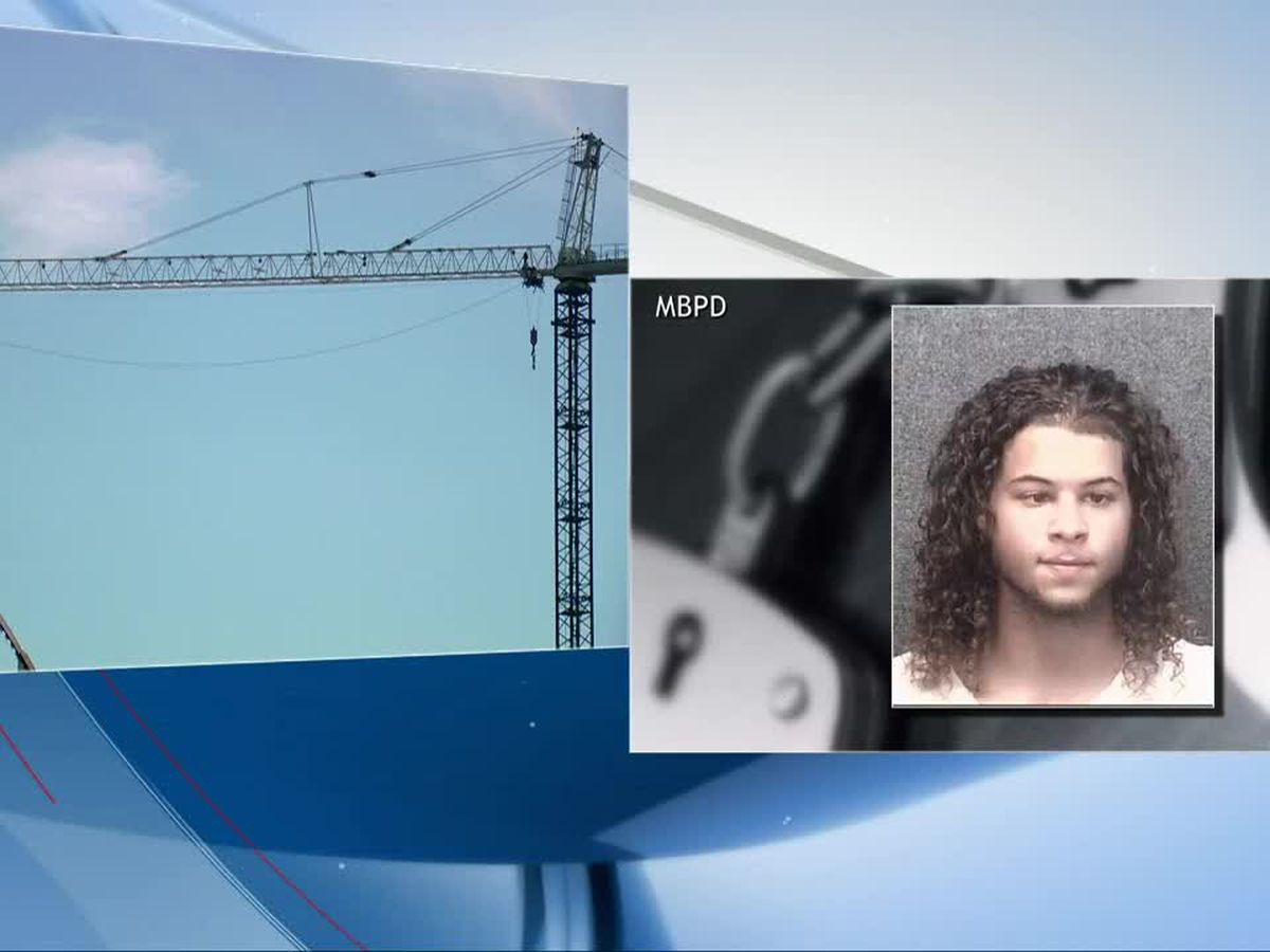 Police: Man arrested after climbing tower crane in Myrtle Beach
