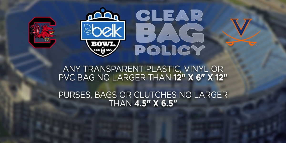 Bank of America Stadium to enforce 'clear bag policy' for Belk Bowl