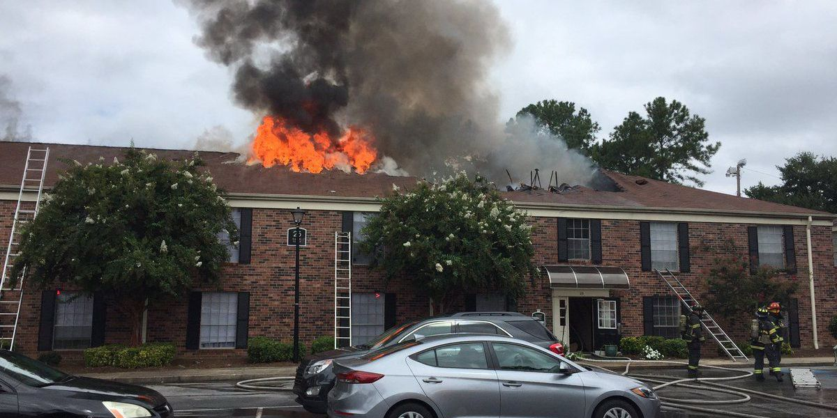 About 20 people displaced following two-alarm fire at apartment complex