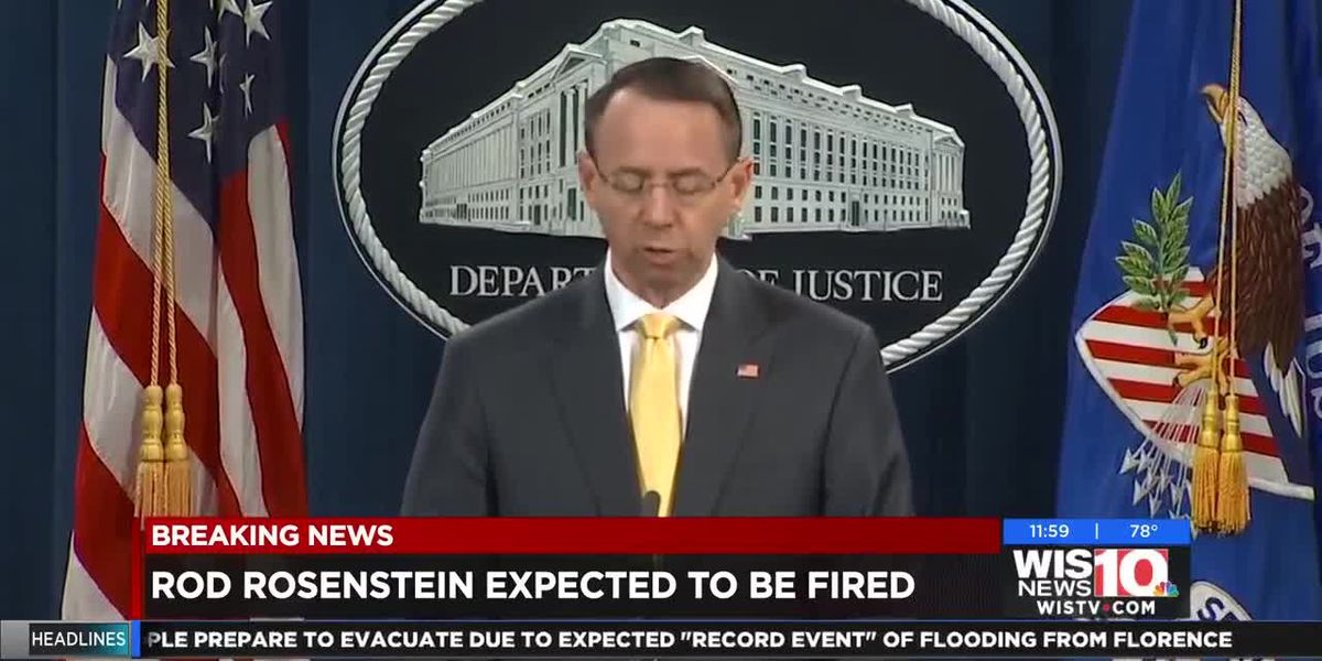 Rod Rosenstein expected to be fired by President Trump