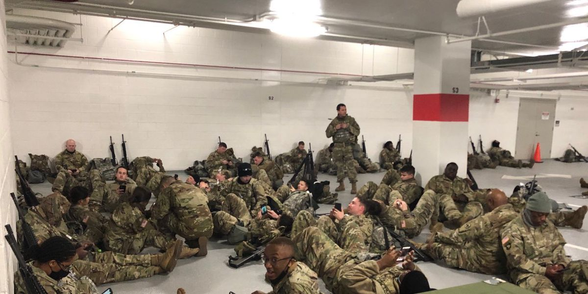 'This is unconscionable': National Guardsmen relocated from Capitol to parking garage