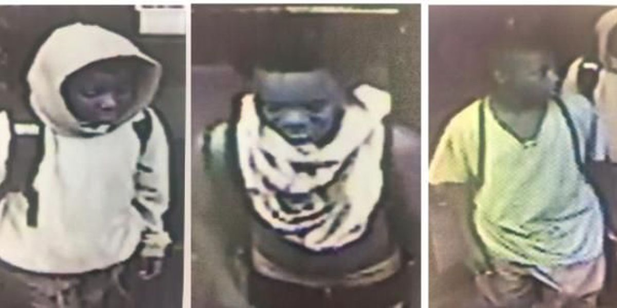 Surveillance images capture 3 young suspects connected to armed robbery, assault