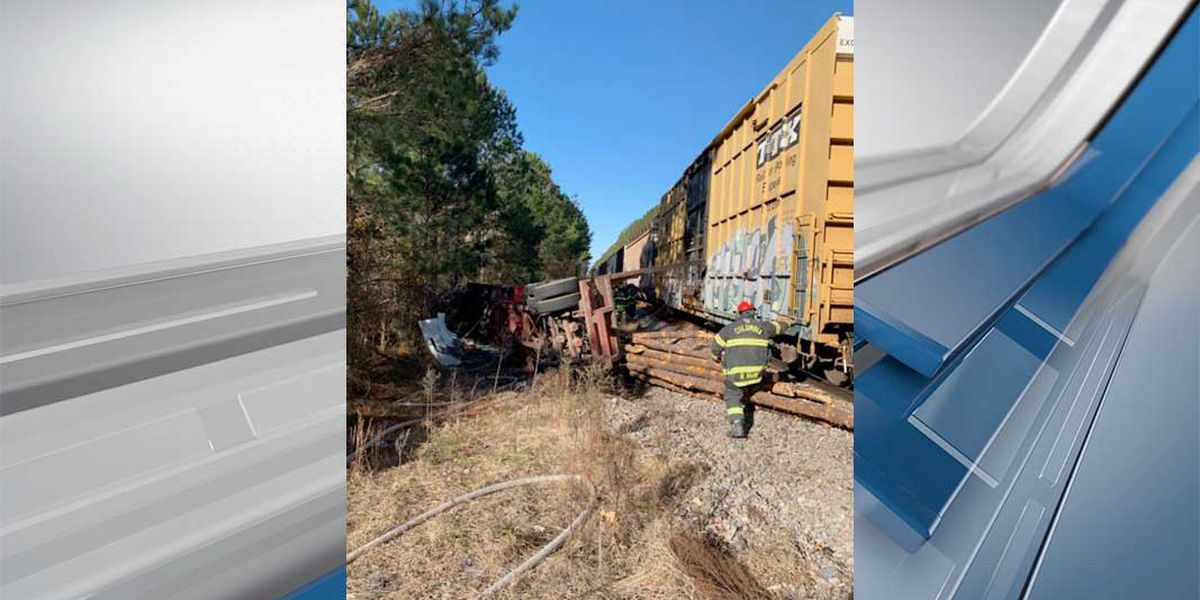 Train crash with tractor trailer causes fire, closes part of McCords Ferry Road