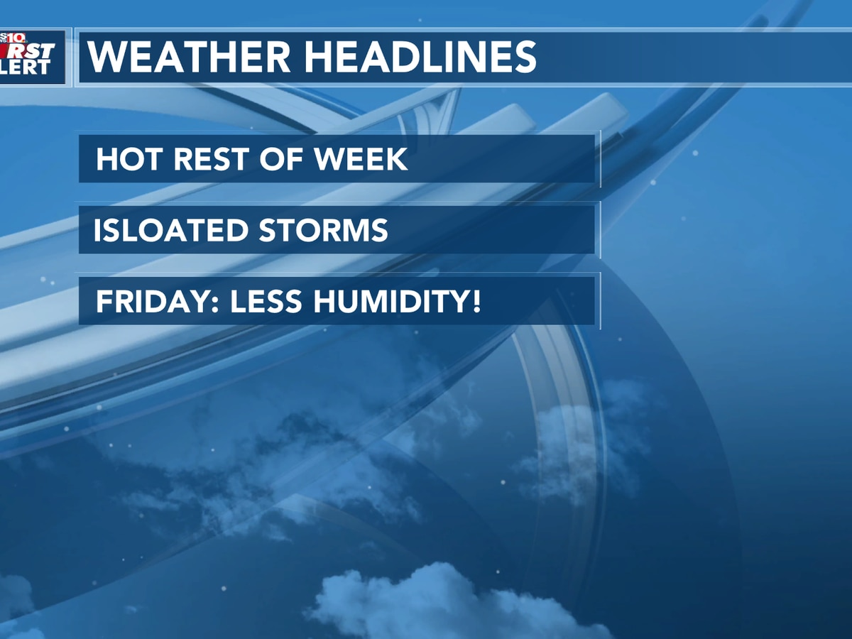 Hot & Muggy with a chance of some isolated storms today.
