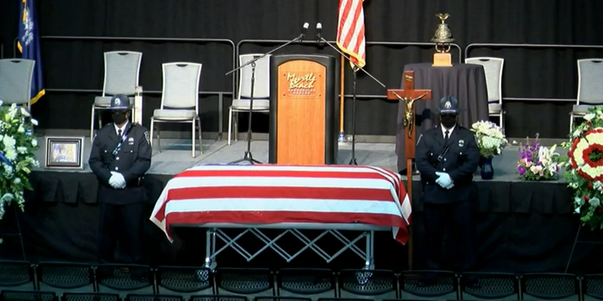 'We all love Jacob': Community says a final goodbye to Myrtle Beach Ofc. Jacob Hancher