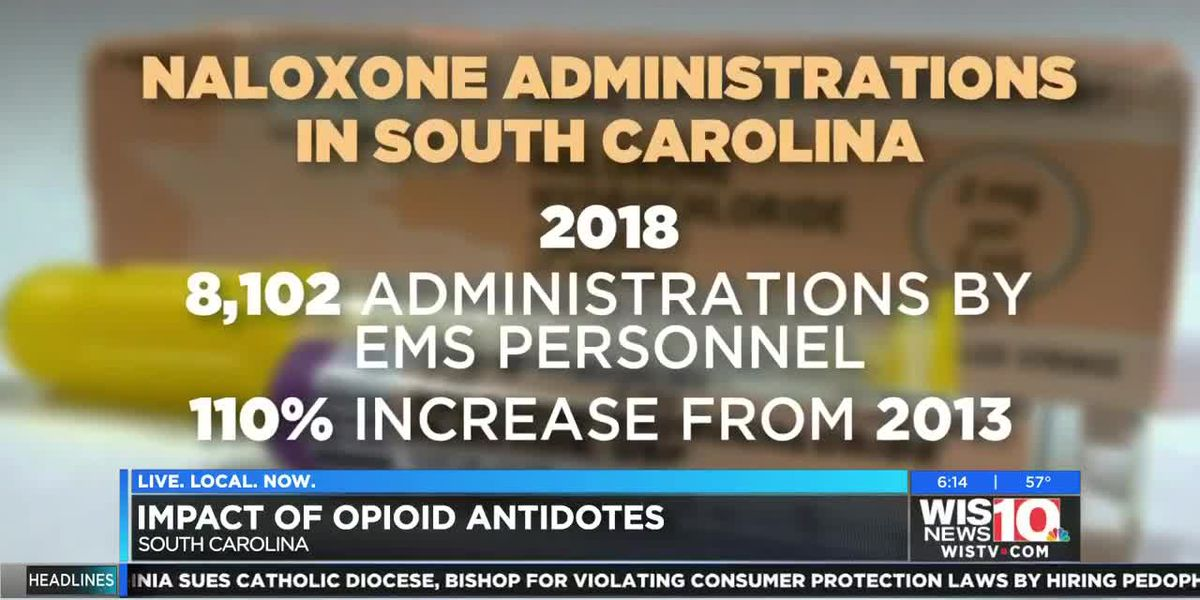 Opioid antidote disbursements continue to increase in SC