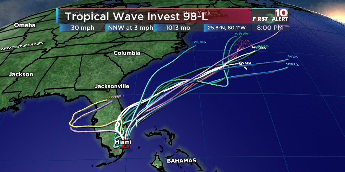 FIRST ALERT: A potential tropical system could impact parts of the Southeastern coast this weekend