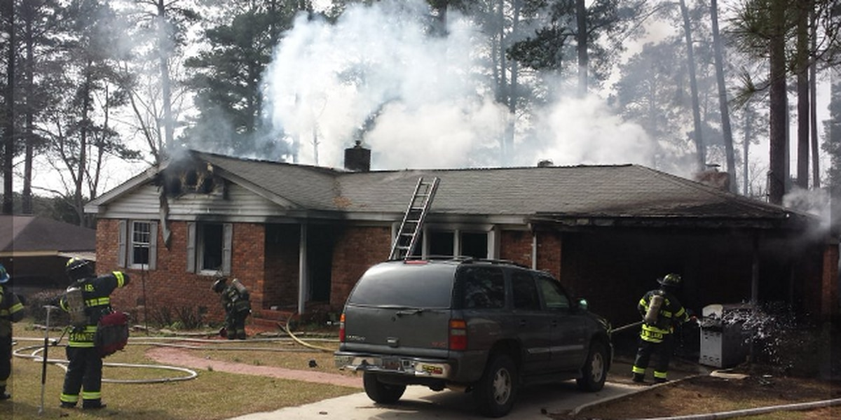 Columbia Fire: All hands working house fire off Bush River Rd.