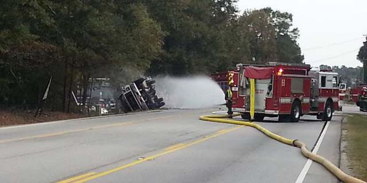 Road reopened after propane truck overturned
