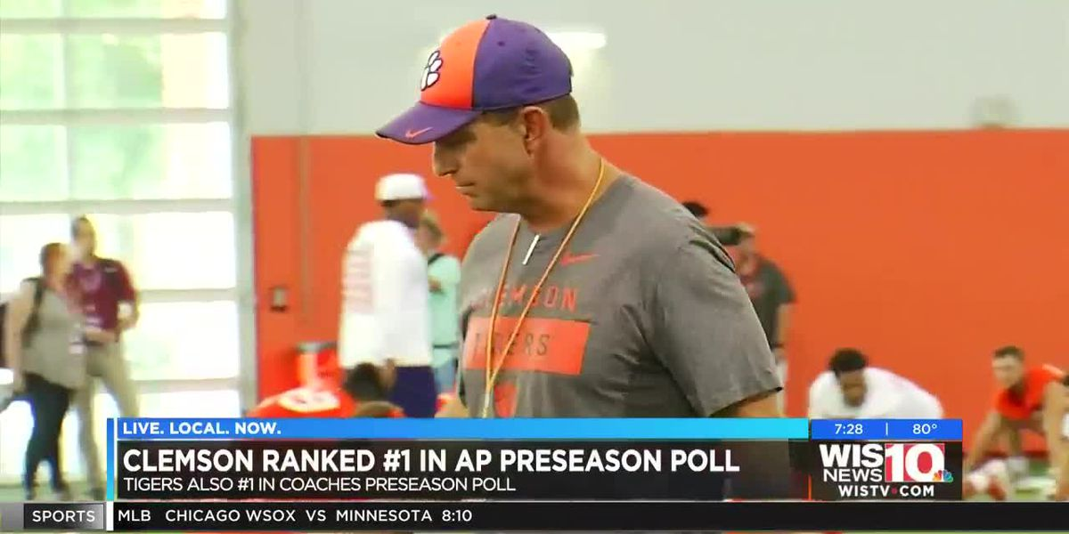 Tigers take top spot in AP Top 25 preseason poll for the first time ever