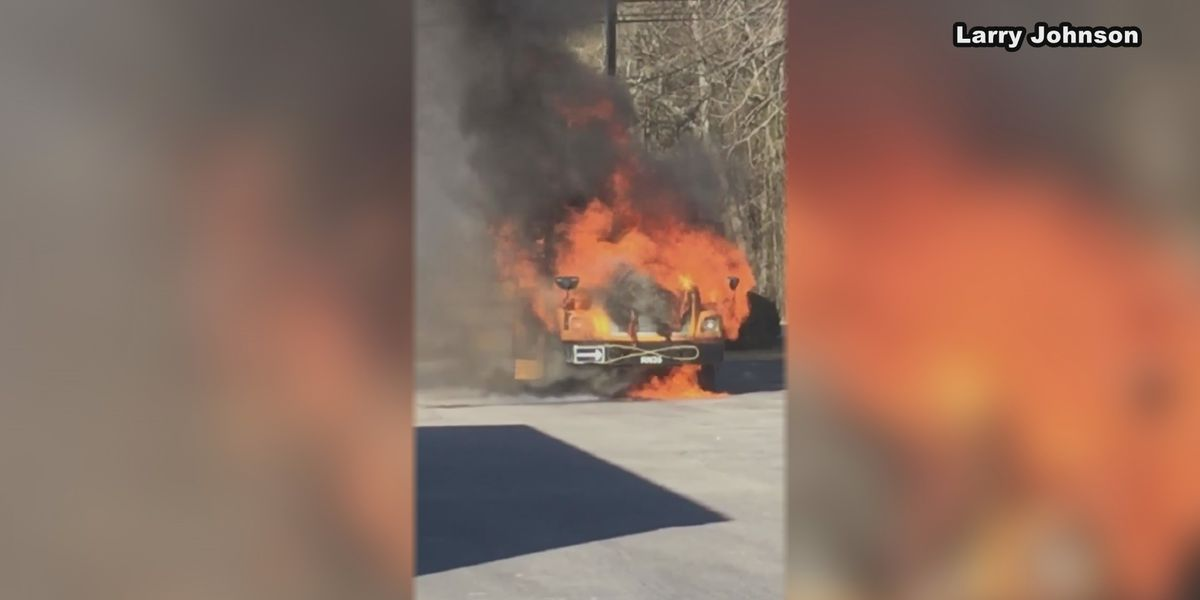 Witnesses, district applaud school bus driver who got students off bus ahead of blaze
