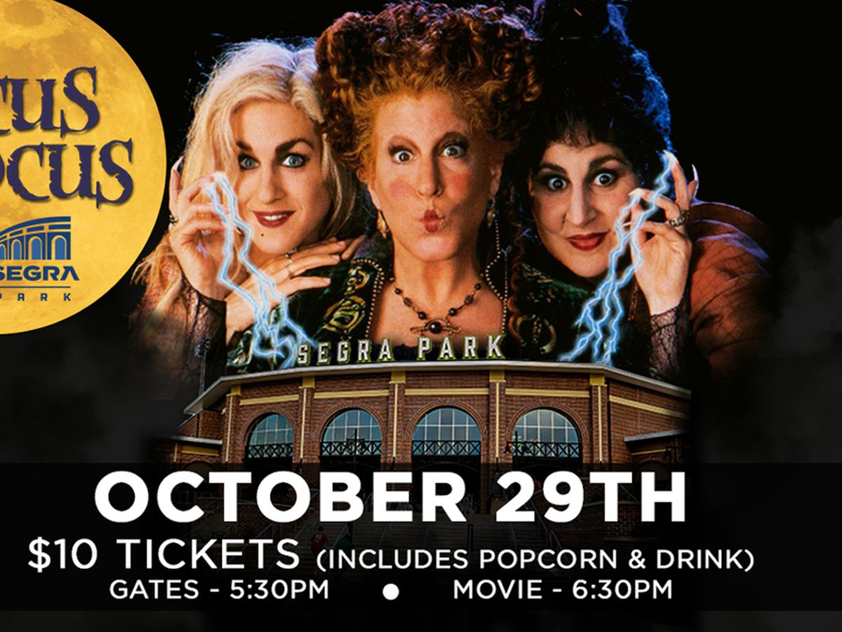 Columbia Fireflies to host showing of 'Hocus Pocus' at Segra Park on October 29