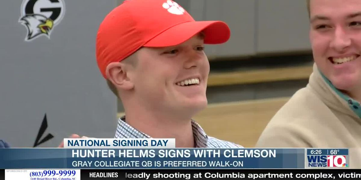 Gray Collegiate QB Helms makes childhood dream come true signing with Clemson