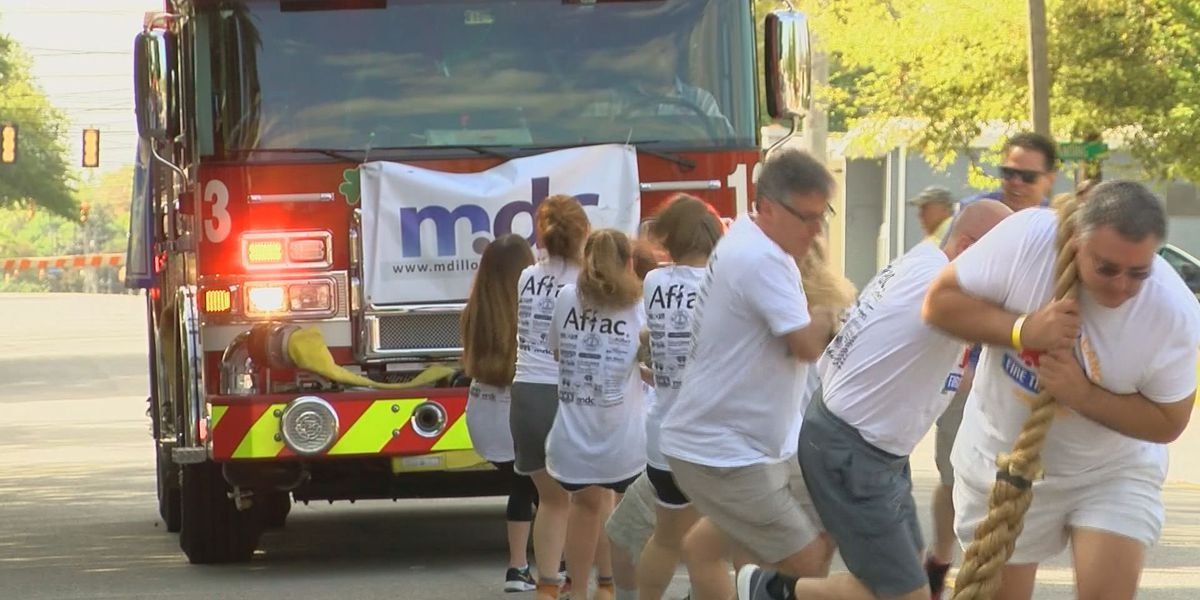 Teams to pull a 35,000-pound fire truck in the fight against childhood cancer
