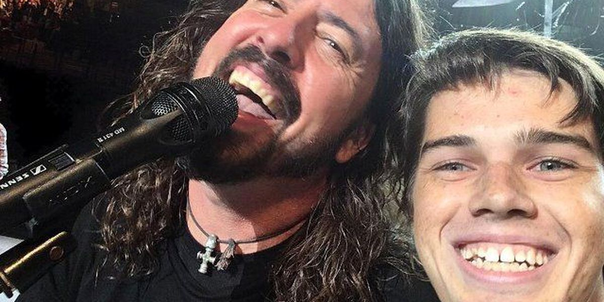 USC student was determined to get on stage with Foo Fighters...and he did!
