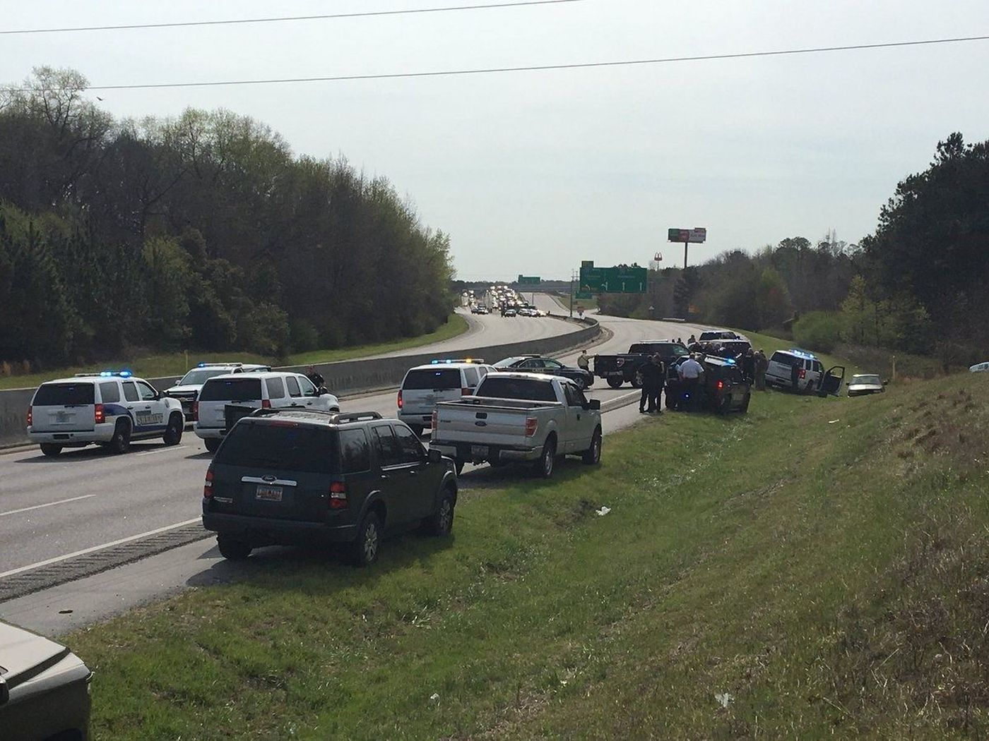 Four deputies are now on administrative leave following the I-26