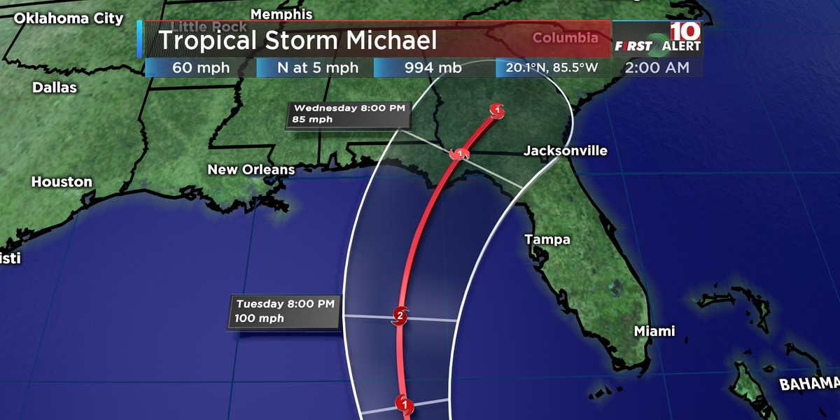 Michael now a Category 1 hurricane