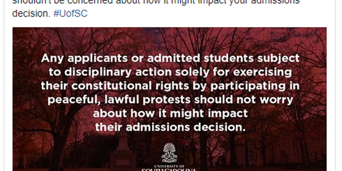 USC tells potential students not to worry about admissions standards if they decide to protest