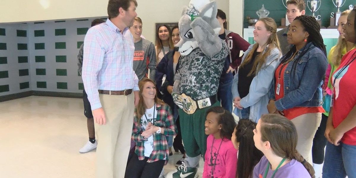 Dutch Fork High School's Foxy mascot named latest Community Builder