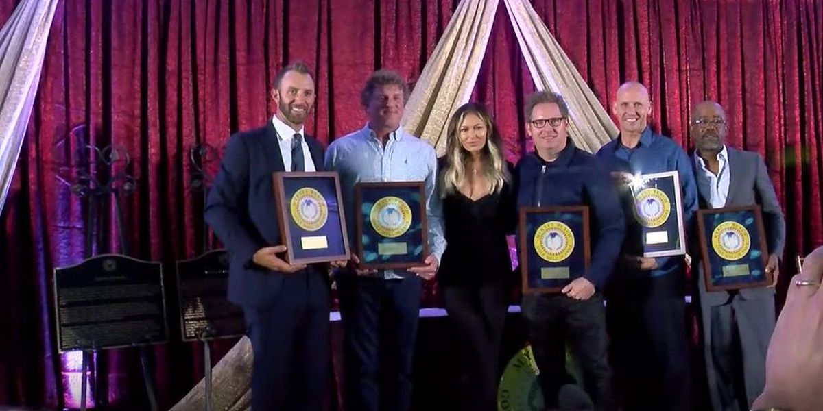 Myrtle Beach Golf HOF inducts Hootie & the Blowfish and Dustin Johnson
