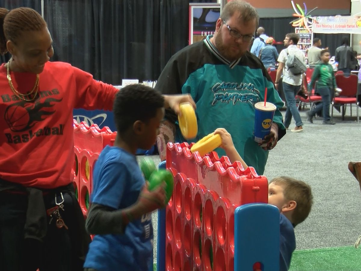 Visitors and Columbia locals enjoy Segra Fan Fest for March Madness