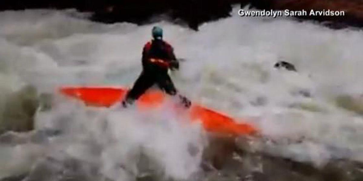 Daring kayak rescue caught on camera in NC