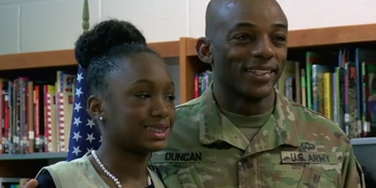 SC girl wins award for service project, gets surprise from deployed dad