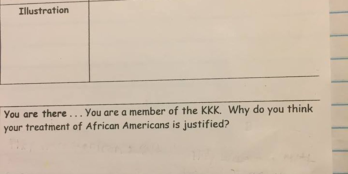 SC teacher on administrative leave following homework assignments that ask fifth-graders to justify KKK's actions