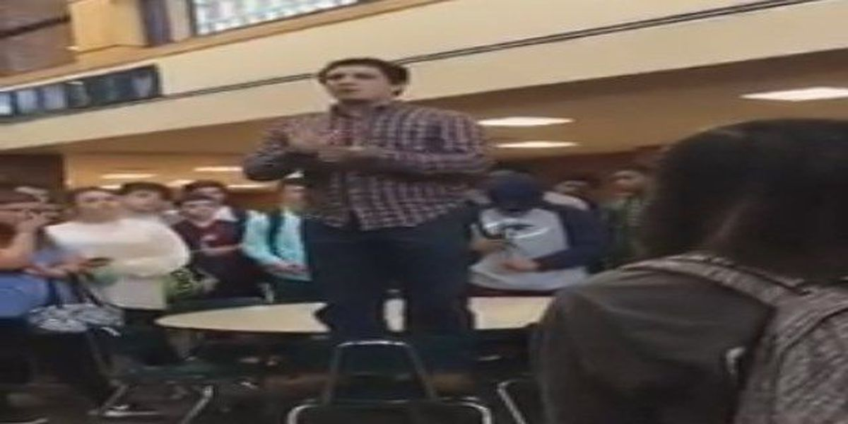 VIDEO: White Knoll student rallies classmates in prayer following student's sudden death
