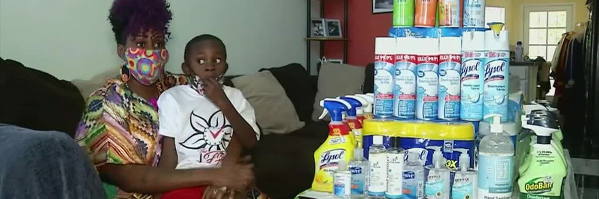 Texas boy delivers care packages to essential workers