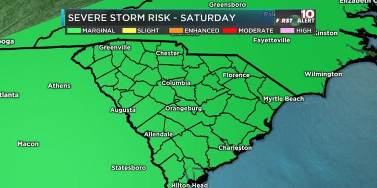 FIRST ALERT: Cold front to bring severe storms Saturday evening