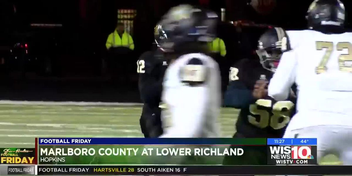 PLAY 3: Lower Richland's Dustin McCombs comes down with the big catch