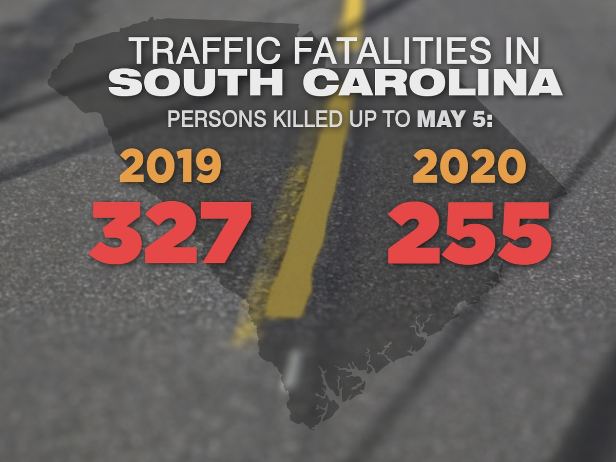 Traffic deaths, accidents down in South Carolina because of COVID-19 pandemic