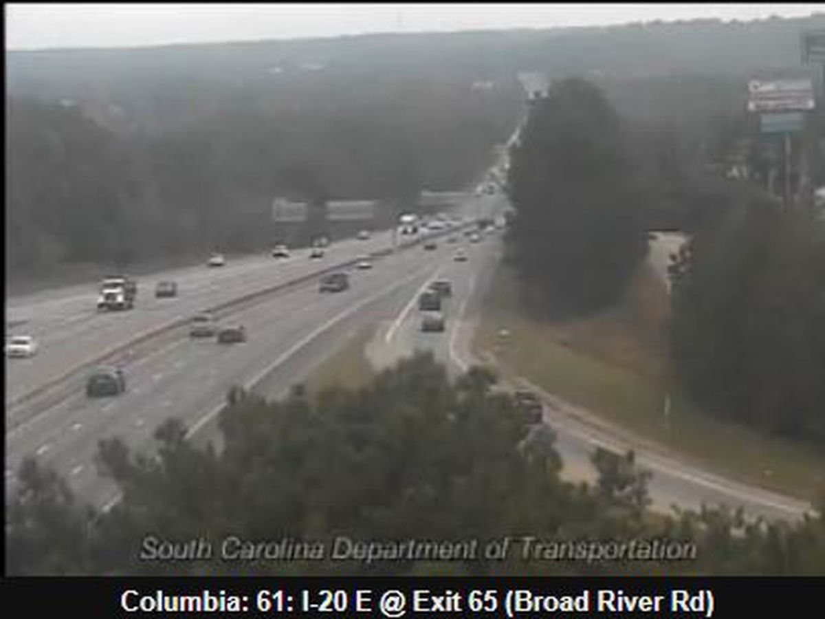 Traffic backup cleared on I-20 near Broad River Road, no water rescue needed