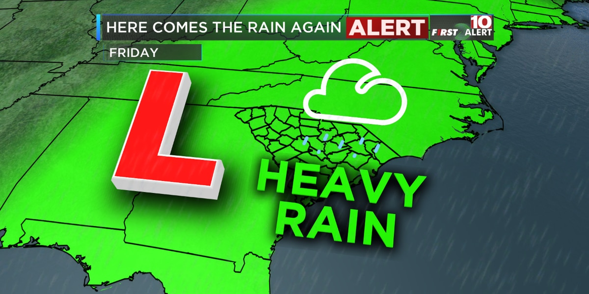 FIRST ALERT: Friday is an Alert Day! Heavy rain likely in the Midlands
