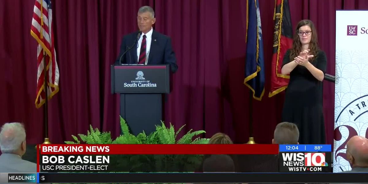 Caslen addresses UofSC community for the first time as president-elect (noon)