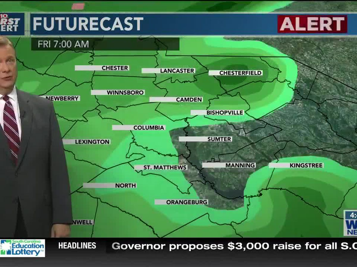 First Alert Forecast: Much Cooler Today. More Rain Arrives Friday