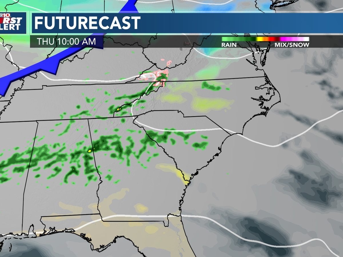 First Alert Forecast: Showers this morning, cloudy by afternoon; heavy rain possible Monday