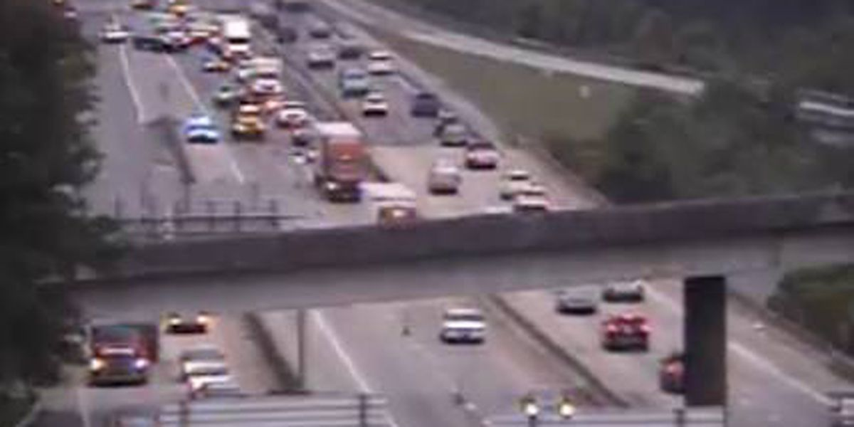 Right lane blocked on I-26 W near downtown Columbia exit due to overturned tractor trailer