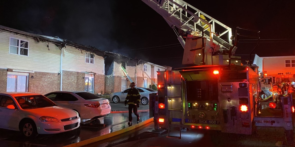 Massive apartment fire displaces at least 6 families in West Columbia