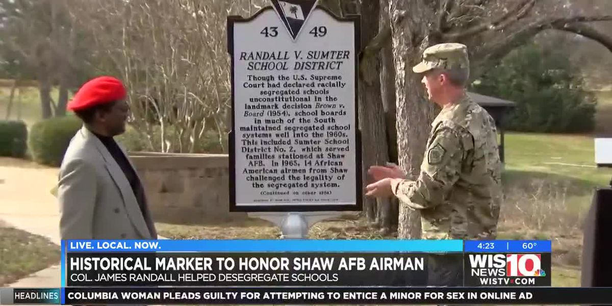 Historical marker dedicated to honoring Shaw AFB, Tuskegee Airman