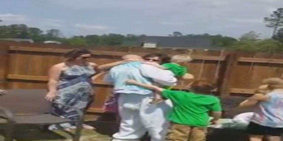 VIDEO: SC military dad gives family hopping-good Easter surprise