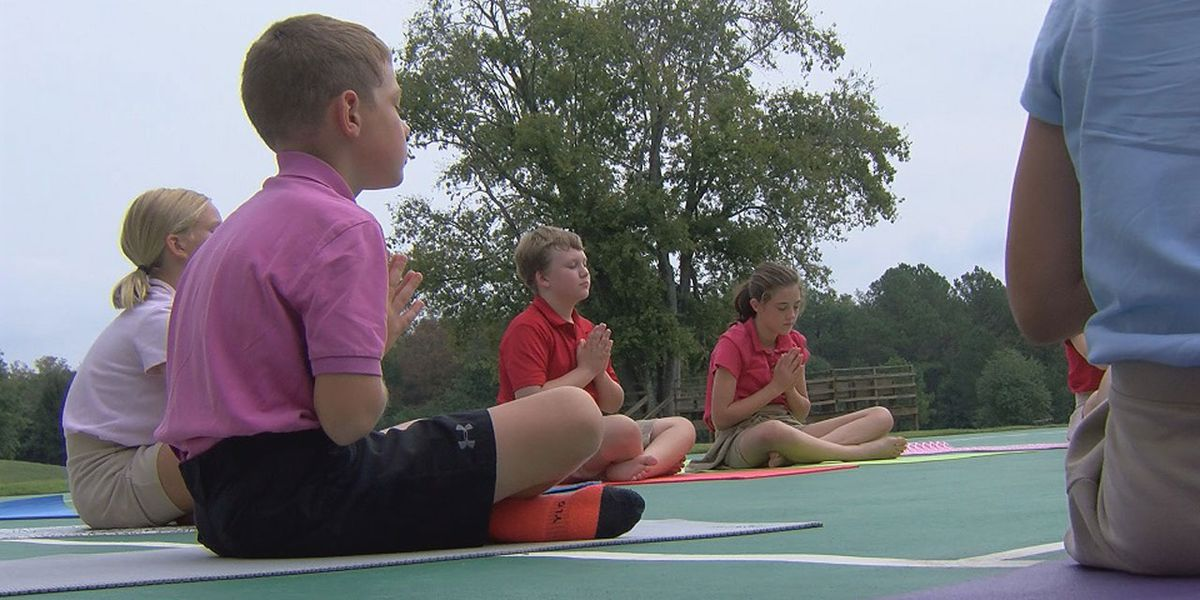 Students at the Sandhills School experience the power of yoga for learning