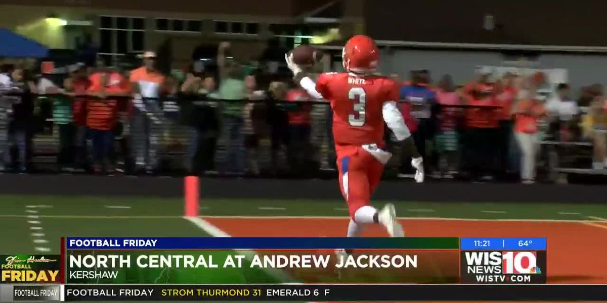 Play 4: Andrew Jackson's OJ White sheds a tackle and is home free