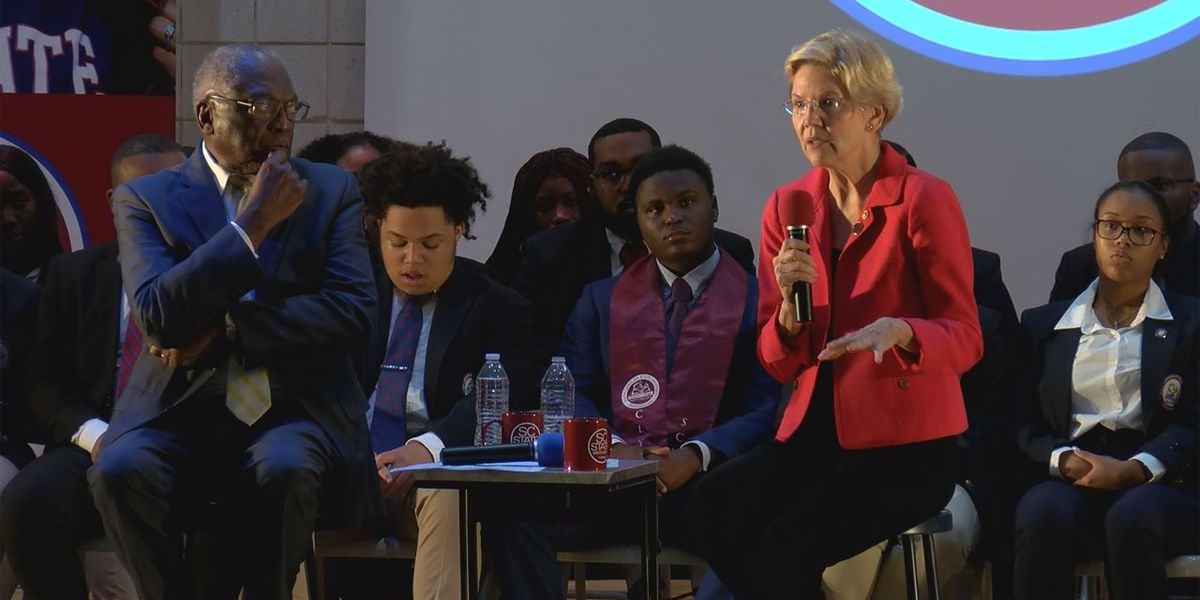 Congressman James Clyburn, Sen. Elizabeth Warren lay out student debt relief plan during town hall