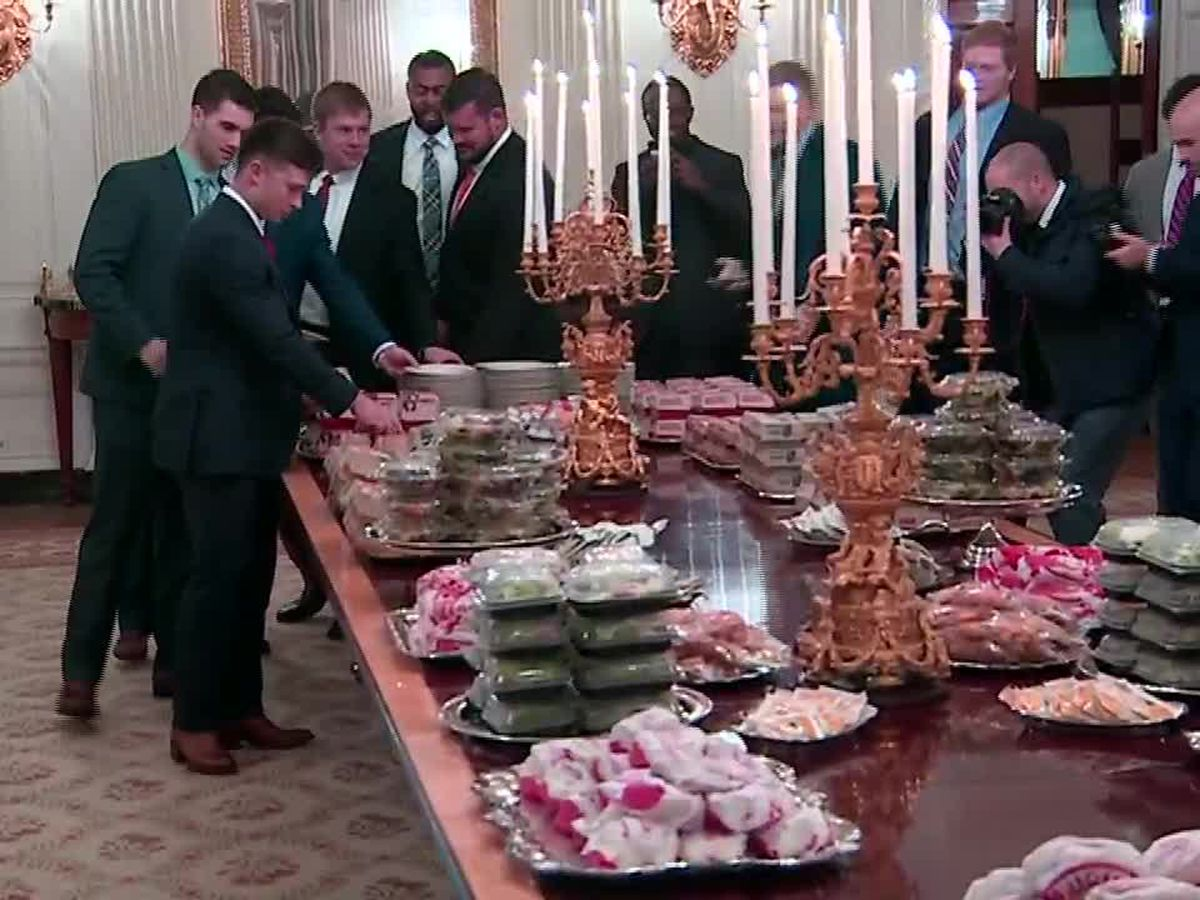 President Trump personally pays for Clemson's fast food feast