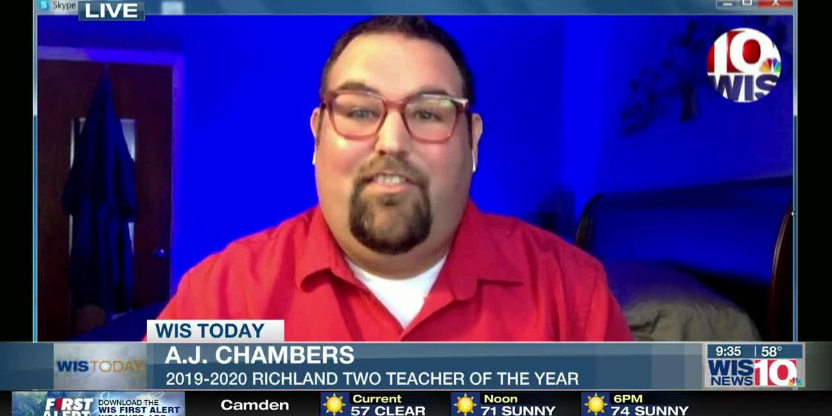 WIS TODAY: AJ Chambers discusses teaching and being 2019-2020 Richland Two teacher of the year