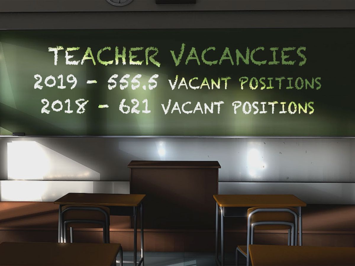New report shows fewer public school teachers left their positions compared to last year